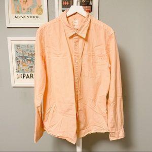 Gap Stripe Button-Down Lived In Shirt XL
